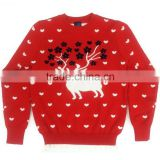 ugly christmas sweater knitting deer patterns Kid knitted Jumpers