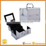 professional aluminum cosmetic makeup vanity carry case, professional beauty box makeup vanity case,aluminum makeup train case