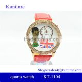 New fashion world cup plus UK flag design bezel watches gift watches