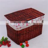 Handmade wicker basket,willow basket,wicker basket with fabric lining                                                                         Quality Choice