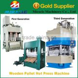 Touch screen controller system wood pallet making machine/pallet hot press machine price
