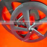 Sonata high-profile carbon wheels 5 spoke 65mm clincher bicycle wheel 3k matte finish for sale
