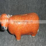 custom cow design dolomite money box