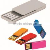 high quality metal colorful bookend shape usb sticks 1gb