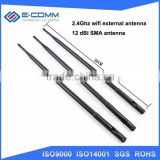 High gain 12dBi external wifi antenna with RP SMA male connector Wireless router AP antenna