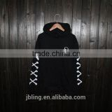European and American hip-hop street skeleton skull male and female couple hedging round neck hooded sweater