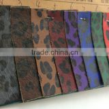 printing flower pattern pu leather for bag with nonwaven backing fashion design for handbags leather and shoes uppers