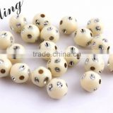 Ivory Color Chunky Sparkly Acrylic Solid Rhinestone Bling Beads 4mm to 12mm Wholesales Jewelry