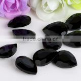 Black High Fancy Quality Wholesales Point Back Loose Teardrop Shapes Crystal Glass Beads for Jewelry Making Cheap