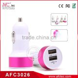 ABS colorful hot sale wholesale factory best 12v car dual usb charger