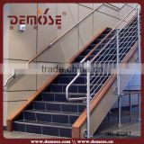 wholesale staircase side mount post cable railing with steel wood handrail