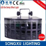 popular led rgbw 4in1 2x10w buttlefly double derby dj effect led disco light stage lighting system