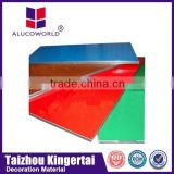 Alucoworld Best price plastic pvdf coating frp sandwich wall decoration facade acp panel