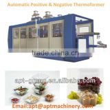 Four Station Plastic Thermoforming Machine With Forming-Vent Hole Punching-Cutting-Stacking unit