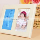 Clay Handprint & Footprint Baby Keepsake Double Photo Frame Kit