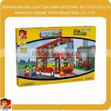 Kids Plastic Double Decker Bus for Sale 3D Building Blocks Toys