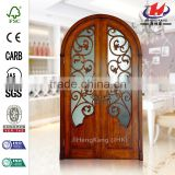JHK- G17 Indonesian Carved Teak Wood Shower Panels Security Devices Interior French Door