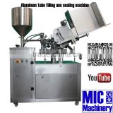 MICmachinery MIC-R60 with free spare parts automatic adhesive filling machine with silicone oil spray station