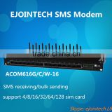 NEw voip gateway product, 16 port 16 sim gsm sim server sms gateway with bulk sms sendign and receiving