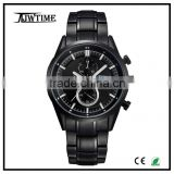 relogio masculino chronograph luxury watch arm time men's wrist watches,japan movt quartz watch stainless steel back