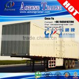 China 3 axles dry van semi trailer bulk cargo transporting carbon steel fiberglass box trailer truck