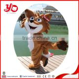 CE/ASTM standard custom adult Plush mascot costumes, fox animal costumes, plush big head animal costumes