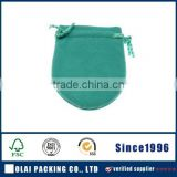 High-end Customized green fabric jewellery pouch,jewellery packaging pouch with green ropes                                                                         Quality Choice