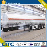 Tri- Axles Alu alloy tanker trailer, acetic acid transport tank trailer for sale