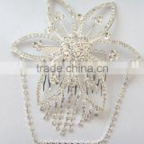 wholesale Dainty indian hair accessories flower hair comb,indian wedding jewelry for women