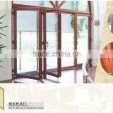 MOSER solid wood folding bifold sliding door in oak wood