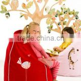 new red indoor children beanbag chair