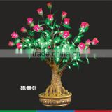 LED Artificial Bonsai Rose tree light,indoor led bonsai tree light