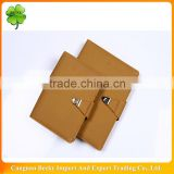 Attractive and inexpensive writing brown leather cover a5 daily notebooks for advertisement