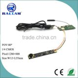 Support iphone and android 1mp HD camera with wifi module for medical and industrial endoscope
