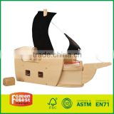 DIY Unfinished Wood Toy Pirate Ship wooden diy airplane