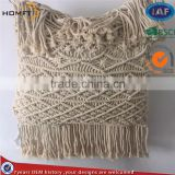 start hotel deco good quality cotton macrame craft sofa pillow