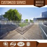 Outdoor carbonized wood floor