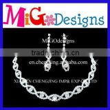 Wholesale Silver Plated Pearl Necklace Earrings Jewelry set