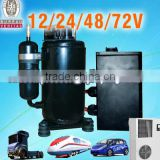 Electric dc compressor Air Conditioning Systems for minibus midibus bus tractor offroad and military vehicles special vehicle