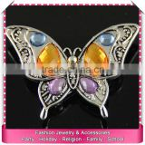 Vintage butterfly brooches for woman, wholesale rhinestone brooches