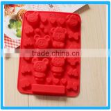 Various Cartoon Shaped Cake Mold Red Color Cookie Tray Silicone Cake Mould
