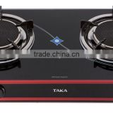 TAKA Gas Cooker TK-HG4 double Magneto Infrared Burners - top glass - Japan quality management / Home Appiances / Kitchen Wares