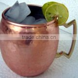 MANUFACTURER COPPER MUG with Brass Handle Lacquered