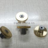 ISO9001 Manufacturer Hobbing process r/c servo Spur Gear made from brass
