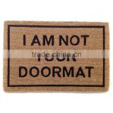 Coconut Fiber Door Mats With Metallic Base