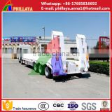 Heavy duty low flat bed flatbed semi truck trailer manufacturer with ladder and mudguards