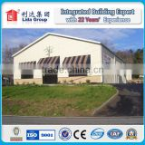 Steel Frame Flat Roof Structure Building