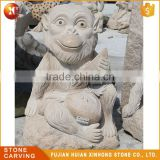 High Quality Cute Beautiful Granite Carving Garden Stone Monkey Statue