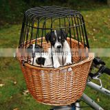 2014 Hot High Quality cheap wicker/willow dog bike basket