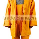 Hot Sale PVC Polyester Waterproof Rainsuit Bip Pants Jacket Reflective Tape Added Rainsuit